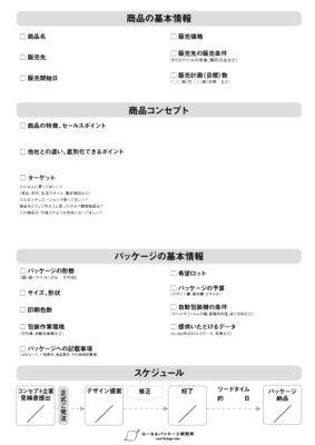 デザイナー向け・パッケージデザイン用チェックリスト